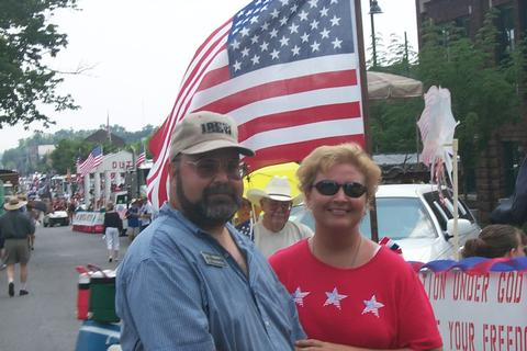 Bill & Jennifer Abbott at the Bloomington 4th of July Parade