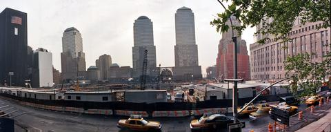 Wide-angle view of ground zero