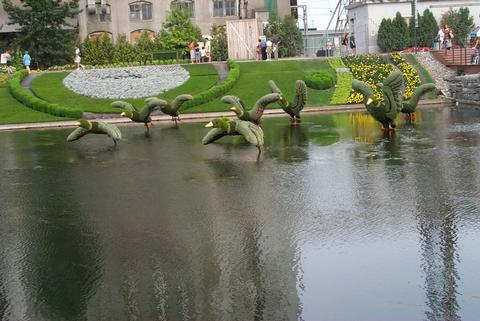 Topiary Garden:  Ducks