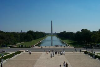 View from the steps of the Lincoln Memorial